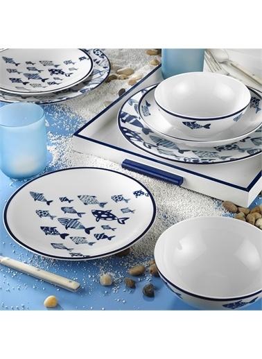Kütahya Porselen Kütahya Porselen Marine Serisi 24 Parça 11407 Desen Yemek Seti Renkli